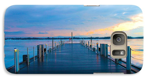 Galaxy Case featuring the photograph Toronto Pier During A Winter Sunset by Nina Silver