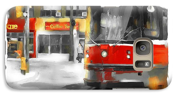 Galaxy Case featuring the painting Toronto Streets 1 by Bob Salo
