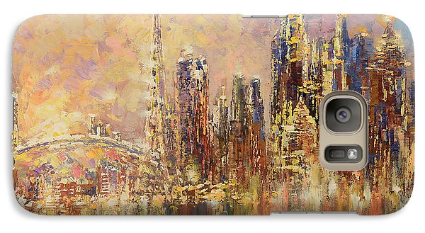Galaxy Case featuring the painting Toronto Yyz by Tatiana Iliina