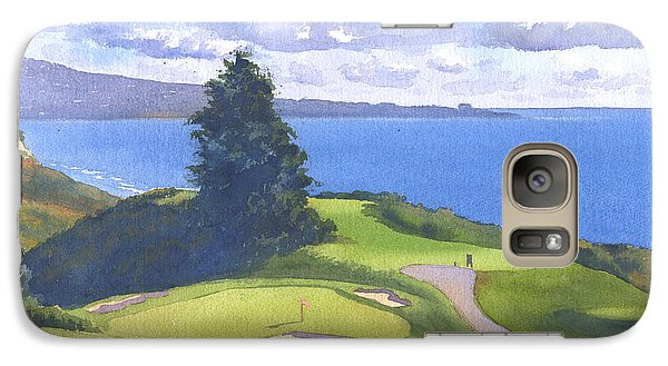 Torrey Pines Golf Course North Course Hole #6 Galaxy S7 Case by Mary Helmreich
