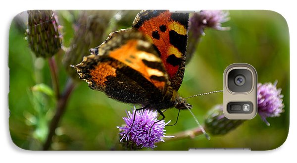 Galaxy Case featuring the photograph Tortoise Shell Butterfly by Scott Lyons