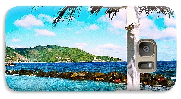 Galaxy Case featuring the digital art Tortola Cabana by Kara  Stewart