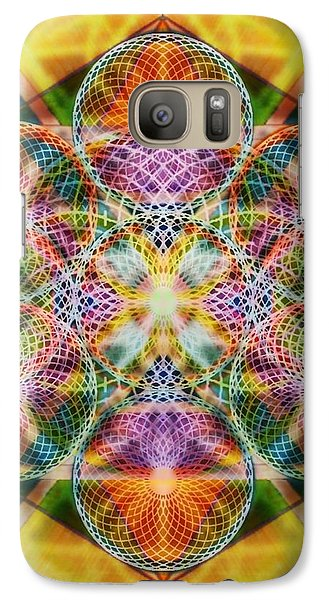 Galaxy Case featuring the digital art Torusphere Synthesis Bright Beginning Soulin I by Christopher Pringer