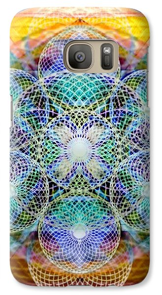 Galaxy Case featuring the digital art Torusphere Synthesis Cell Firing Soulin IIi by Christopher Pringer