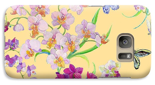 Tossed Orchids Galaxy S7 Case by Kimberly McSparran