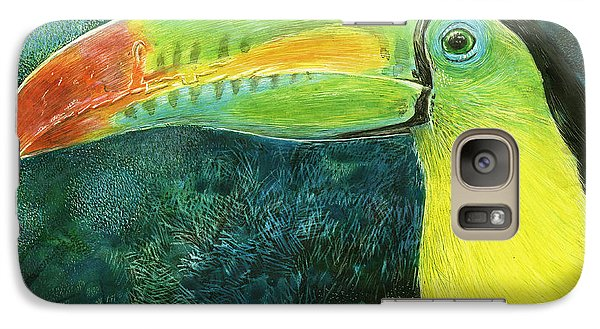 Galaxy Case featuring the drawing Toucan by Sandra LaFaut