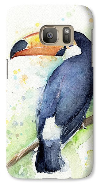 Toucan Watercolor Galaxy S7 Case by Olga Shvartsur
