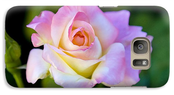 Galaxy Case featuring the photograph Rose-touch Me Softly by David Millenheft