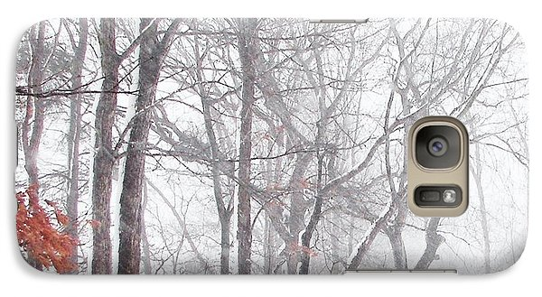 Galaxy Case featuring the photograph Touch Of Fall In Winter Fog by Pamela Hyde Wilson