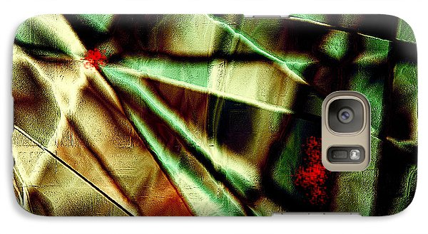 Galaxy Case featuring the digital art Touch Of Red by Paula Ayers