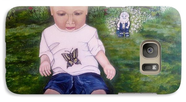 Galaxy Case featuring the painting Touched By A Butterfly Kiss by Kimberlee Baxter