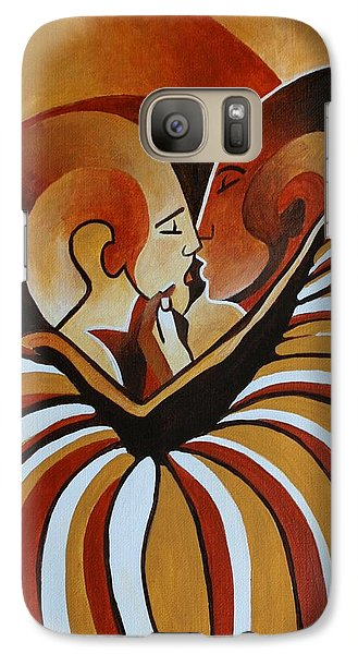 Galaxy Case featuring the painting Touched By Africa I by Tracey Harrington-Simpson