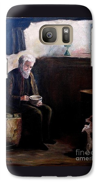 Galaxy Case featuring the painting Tough Times by Hazel Holland