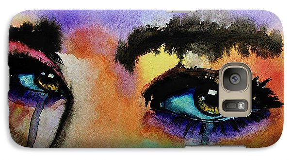 Galaxy Case featuring the painting Tougher Than You Think by Michael Cross
