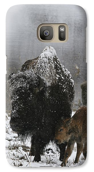 Galaxy Case featuring the photograph Toughing It Out by Gary Hall