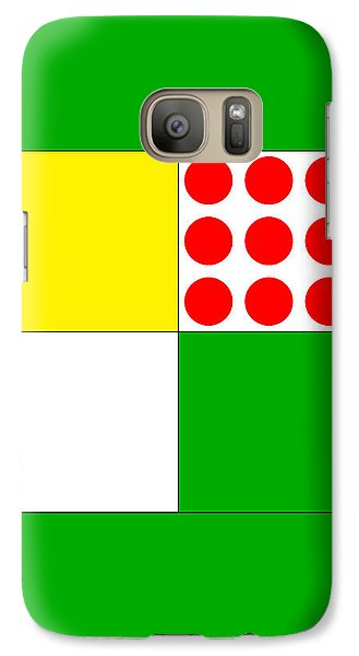 Galaxy Case featuring the digital art Tour De France Jerseys 1 Green by Brian Carson