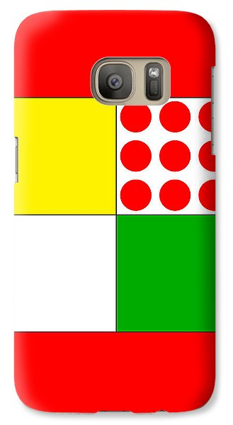 Galaxy Case featuring the digital art Tour De France Jerseys 1 Red by Brian Carson