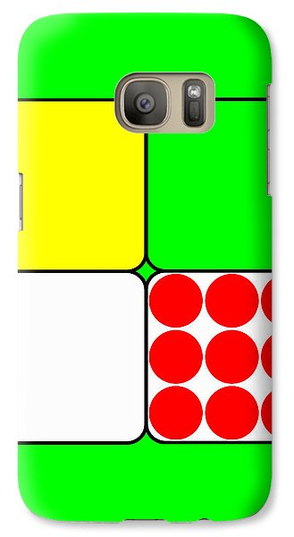 Galaxy Case featuring the digital art Tour De France Jerseys 3 Green by Brian Carson