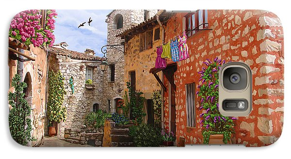 Galaxy Case featuring the painting Tourettes Sur Loup France by Tim Gilliland