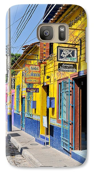 Galaxy Case featuring the photograph Tourist Shops - Mexico by David Perry Lawrence