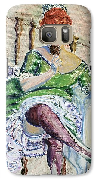 Galaxy Case featuring the painting Tous Les Soirs by D Renee Wilson