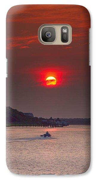 Galaxy Case featuring the photograph Toward An Angry Sun by Alan Raasch