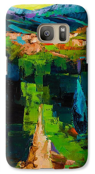 Galaxy Case featuring the painting Toward The Tuscan Village by Elise Palmigiani