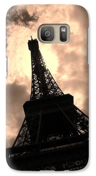 Galaxy Case featuring the photograph Tower And The Sky by Cleaster Cotton