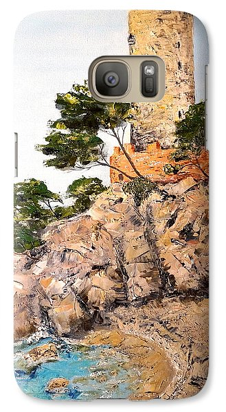 Galaxy Case featuring the painting Tower At Playa De Aro by Marilyn Zalatan
