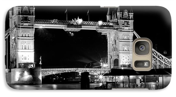 Galaxy Case featuring the photograph Tower Bridge At Night by Maj Seda