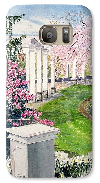 Galaxy Case featuring the painting Tower Hill by Carol Flagg