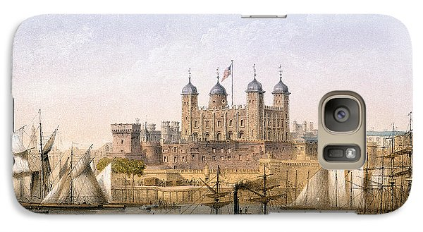 Tower Of London, 1862 Galaxy S7 Case by Achille-Louis Martinet