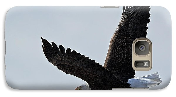 Galaxy Case featuring the photograph Tower Road Bald Eagle by Stephen  Johnson