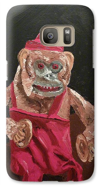 Galaxy Case featuring the painting Toy Monkey With Cymbals by Joshua Redman
