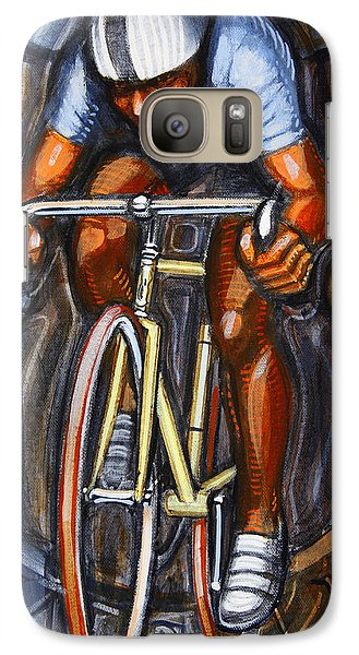 Galaxy Case featuring the painting Track Racer  by Mark Howard Jones