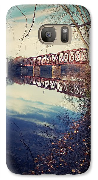 Galaxy Case featuring the photograph Tracks And Reflections by Jeremy McKay