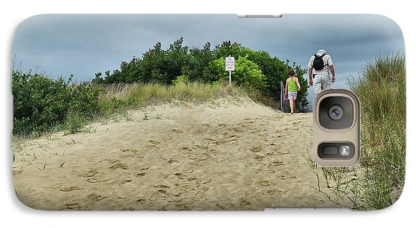 Galaxy Case featuring the photograph Tracks In The Sand by Barbara Manis