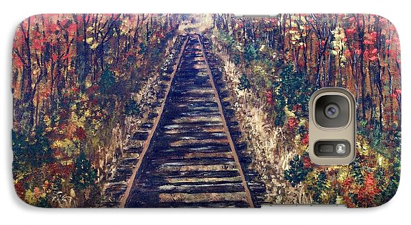 Galaxy Case featuring the painting Tracks Remembered by Cynthia Morgan