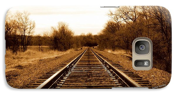 Galaxy Case featuring the photograph Tracks To No Where by Karen Kersey