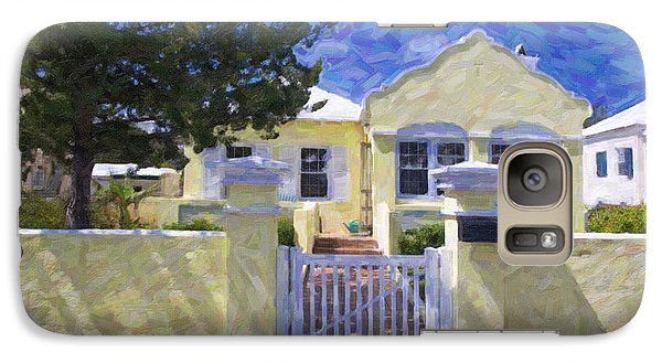 Galaxy Case featuring the photograph Traditional Bermuda Home by Verena Matthew
