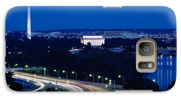 Traffic On The Road, Washington Galaxy S7 Case by Panoramic Images