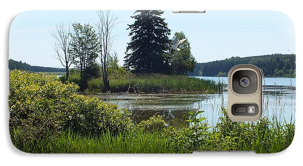 Galaxy Case featuring the photograph Trafton Lake 2 by Gene Cyr