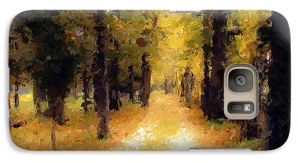 Galaxy Case featuring the painting Trail In The Forest by Wayne Pascall