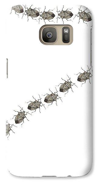 Galaxy Case featuring the digital art Trail Of Stink Bugs by R  Allen Swezey