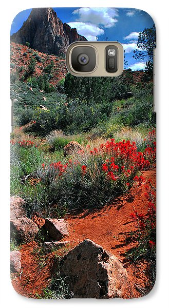 Galaxy Case featuring the photograph Trail To The Watchman by Barbara Manis