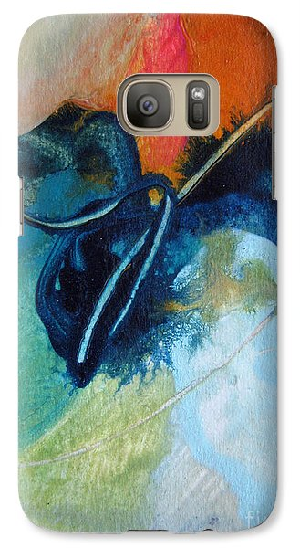 Galaxy Case featuring the painting Trailmarks by Elis Cooke