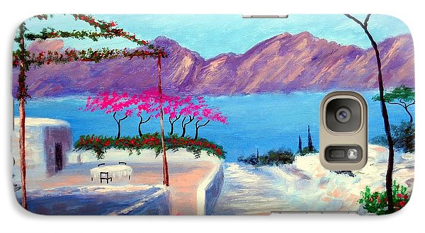 Galaxy Case featuring the painting Trails Of Greece by Larry Cirigliano