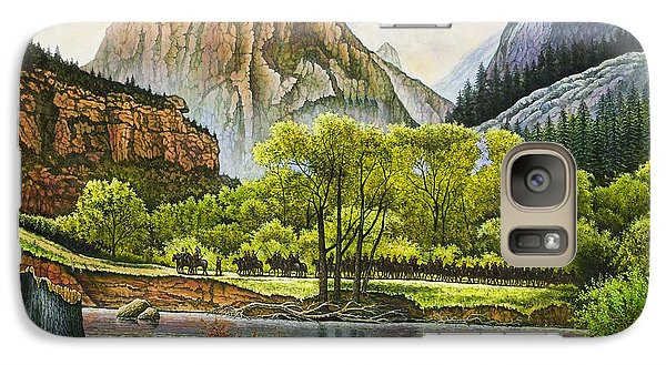 Galaxy Case featuring the painting Trails West by Michael Frank