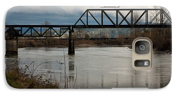 Galaxy Case featuring the photograph Train Bridge by Erin Kohlenberg