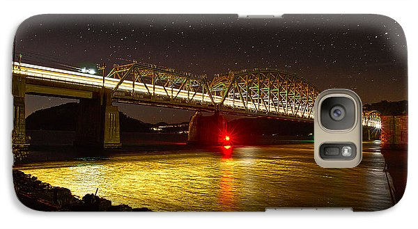 Train Lights In The Night Galaxy S7 Case by Miroslava Jurcik